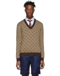Gucci Brown GG Sweater - Multicolor