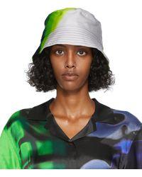 Dries Van Noten Black & Len Lye Edition Bucket Hat - Green