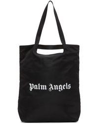 Palm Angels ブラック ロゴ ショッパー トート