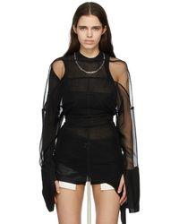 Rick Owens ブラック Collage チュール ミニ ドレス