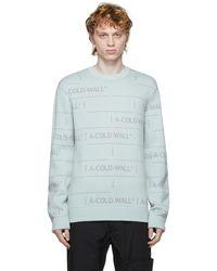 A_COLD_WALL* * Chain ジャカード ニット セーター - ブルー
