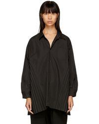 Junya Watanabe - Black Pleated Panel Shirt - Lyst