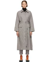 3.1 Phillip Lim - Black And White Oversized Long Trench Coat - Lyst