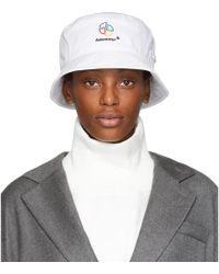 ADER error - White Slice Logo Bucket Hat - Lyst