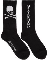 MASTERMIND WORLD Black Version C Logo Socks