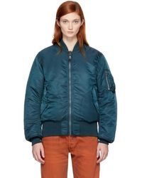 Bless - Reversible Green Richmanpoorman Bomber Jacket - Lyst