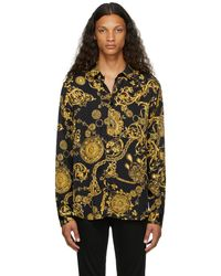 Versace Jeans Couture ブラック Regalia Baroque シャツ