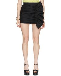 RED Valentino Jupe-short noire Gathering Front