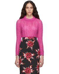 Prada - ピンク モヘア オーバーサイズ セーター - Lyst