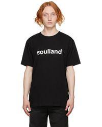 Soulland ブラック Chuck T シャツ