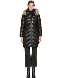 Moncler - Black Down Albizia Coat - Lyst