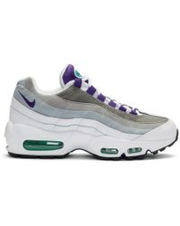 Nike - White And Purple Air Max 95 Sneakers - Lyst