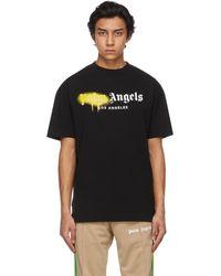 Palm Angels T-shirt a logo noir Sprayed LA