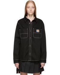 Carhartt WIP ブラック Chalk シャツ
