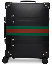 a028fec5d75 Gucci - Black Globe-trotter Edition Web Carry-on Suitcase - Lyst