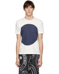 Blue Blue Japan - Ssense Exclusive White And Indigo Big Circle T-shirt - Lyst