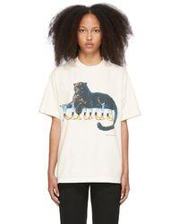 Rhude Off- Leopard T-shirt - White