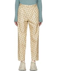 Gucci - Tan All Over Logo Formal Trousers - Lyst