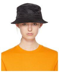Acne Studios - Black Buk Face Bucket Hat - Lyst