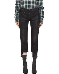 R13 - Black Boy Straight Uneven Hem Jeans - Lyst