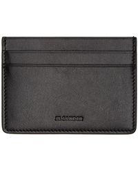 Jil Sander Leather Card Holder - Black