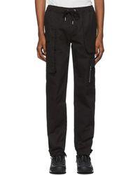 Spencer Badu Black Twill Cargo Pants