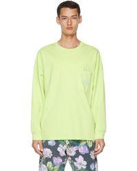 Martine Rose T-shirt à manches longues Warung vert