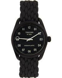 Tom Ford ブラック オーシャン プラスチック 002 腕時計