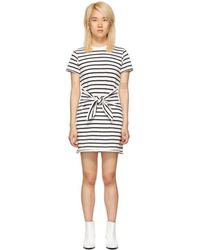 Rag & Bone - White And Navy Halsey Tie Dress - Lyst