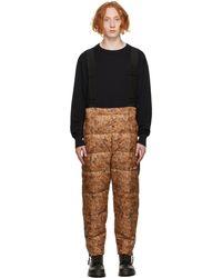 Doublet Pantalon brun et noir en duvet de style animal - Marron