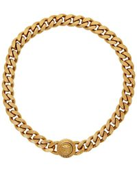 Versace Gold Medusa Tribute Chain Necklace - Metallic