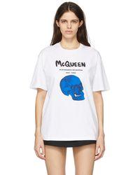 Alexander McQueen - ホワイト Skull グラフィック T シャツ - Lyst