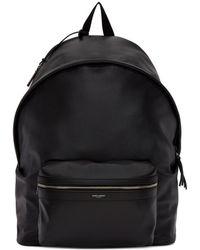 Saint Laurent - Black Leather Giant City Backpack - Lyst