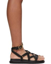 Marni Contrast Stitch Sandals - Black