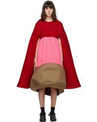 Comme des Garçons レッド & ピンク Sculptural ドレス