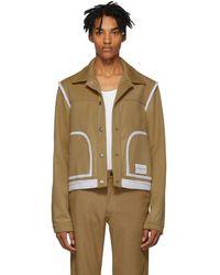 Daniel W. Fletcher Tan Wool Jeans Jacket - Multicolour
