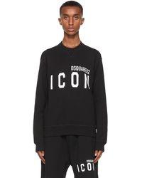 DSquared² ブラック & ホワイト Icon スウェットシャツ