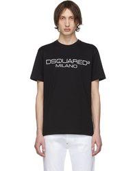 DSquared² - ブラック ロゴ T シャツ - Lyst
