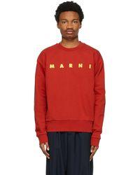 Marni - レッド ロゴ スウェットシャツ - Lyst