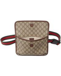 Gucci ブラウン & ベージュ ビンテージ GG ベルト バッグ