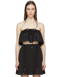 Carven - Black Strapless Chintz Ottoman Cropped Top - Lyst