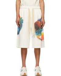 Loewe Paula's Ibiza コレクション ホワイト Airbrush プリント ショーツ