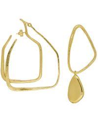 Givenchy - Gold Asymmetric Drop Earrings - Lyst