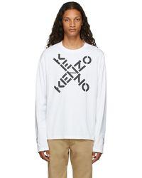 KENZO ホワイト Sport Big X ロング スリーブ T シャツ