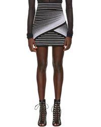 Balmain ブラック And ホワイト オプティック イリュージョン ミニスカート