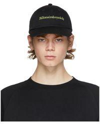 BBCICECREAM ブラック ロゴ エンブロイダリー カーブ バイザー キャップ