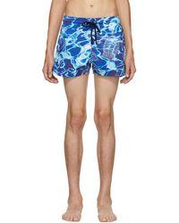 Vilebrequin - Blue Man Splash Swim Shorts - Lyst