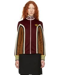 Gucci - Burgundy Panelled Track Jacket - Lyst