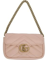 Gucci - ピンク GG マーモント コイン ケース バッグ - Lyst