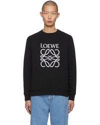 Loewe ブラック エンブロイダリー アナグラム スウェットシャツ